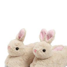 Forever 21 Plush Bunny Slippers , Beige/multi