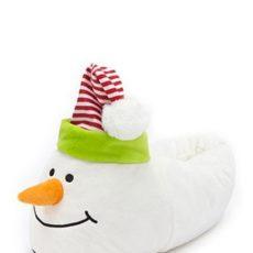 Forever 21 Plush Snowman Slippers , White