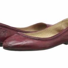 Frye Carson Ballet (Burnt Red Antique Soft Vintage) Women's Flat Shoes