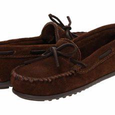 Minnetonka Kids Boy's Moc (Toddler/Little Kid/Big Kid) (Chocolate Suede) Boys Shoes