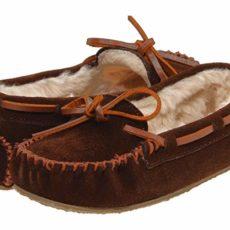 Minnetonka Kids Cassie Slipper (Toddler/Little Kid/Big Kid) (Chocolate Suede) Girls Shoes