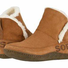SOREL Nakiskatm Bootie (Camel Brown) Women's Slippers