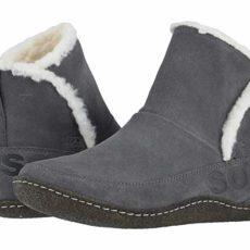 SOREL Nakiskatm Bootie (Quarry/Natural) Women's Slippers