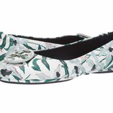 Tory Burch Minnie Travel Ballet Flat (Ivory Desert Bloom) Women's Shoes