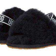 UGG Kids Fluff Yeah Slide (Infant/Toddler) (Black) Girls Shoes