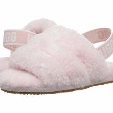 UGG Kids Fluff Yeah Slide (Toddler/Little Kid) (Seashell Pink) Girls Shoes
