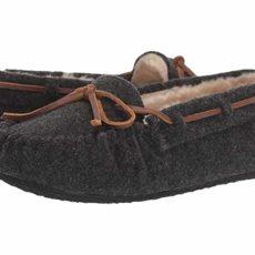 Minnetonka Fleece Cally (Charcoal) Women's Slippers