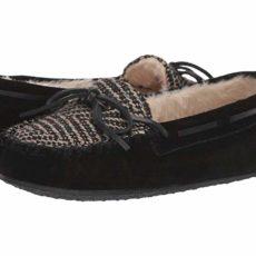 Minnetonka Print Cally (Black) Women's Slippers