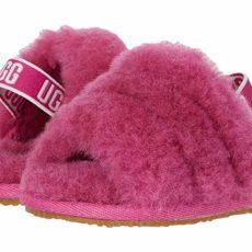 UGG Kids Fluff Yeah Slide (Infant/Toddler) (Fuchsia) Girls Shoes
